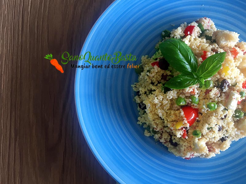 cous cous light feta e verdure